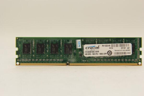 Crucial 4GB DDR3 1600MHz PC3-12800 PC Speicher RAM CT51264BA160B.C16FKR