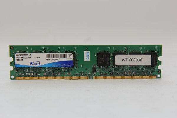 AData 2GB DDR2 800MHz PC2-6400 PC Speicher RAM AD2U800B2G5-S
