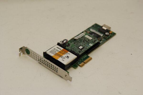 LSI/3ware/AMCC 4-Port 256MB SATA II 3GBit/s PCIe x4 Raidcontroller mit Batterypack ohne Kabel 9650SE-4LPML