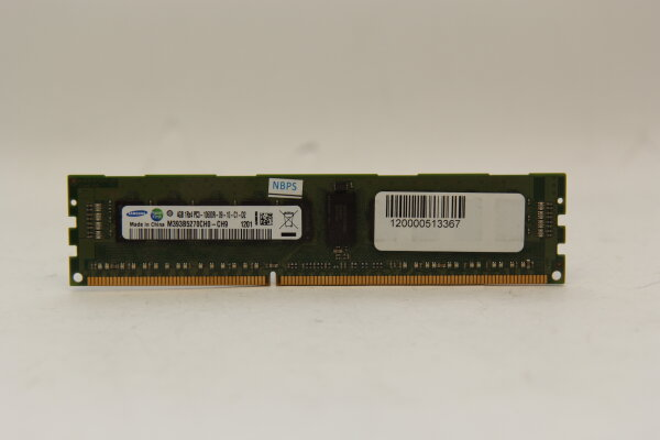 Samsung 4GB DDR3 1333MHz PC3-10600R-09-10-C1-D2 ECC Server Speicher RAM M393B5270CH0-CH9