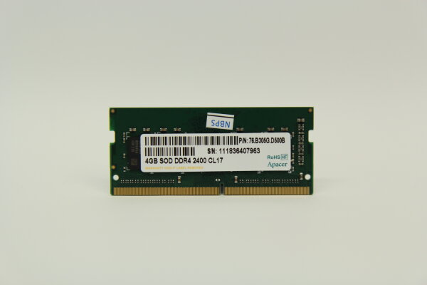 Apacer 4GB DDR4 2400MHz PC4-19200 Notebook Speicher RAM 76.B305G.D500B