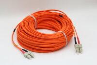 LWL-Kabel 62.5/125µm SC/SC Orange 50m Glasfaserkabel