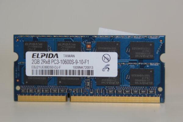 Elpida 2GB DDR3 1333MHz PC3-10600S-9-10-F1 Notebook Speicher RAM EBJ21UE8BDS0-DJ-F
