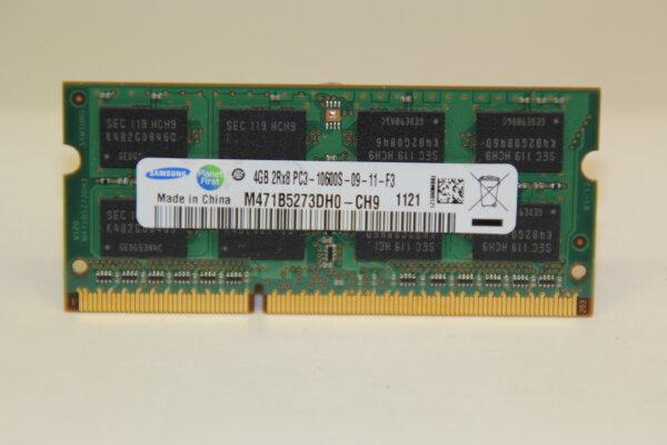 Samsung 4GB DDR3 1333MHz PC3-10600S-09-11-F3 Notebook Speicher RAM M471B5273DH0-CH9