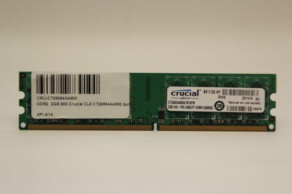 Crucial 2GB DDR2 800MHz PC2-6400 PC Speicher RAM CT25664AA800.M16FM
