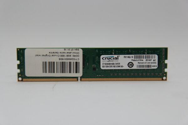 Crucial 8GB DDR3 1600MHz PC3-12800 PC Speicher RAM CT102464BA160B