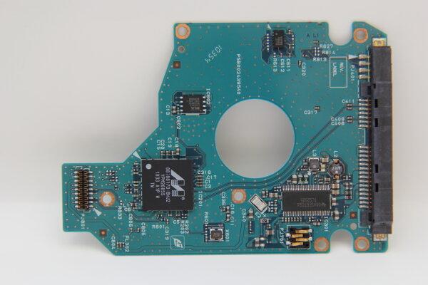 Toshiba HDD PCB Festplattenelektronik G002439-0A Main IC: 88i8817D-BHJ2 Motor IC: TLS2505