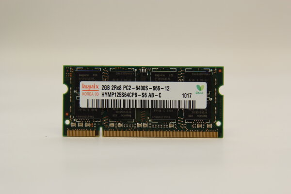 Hynix 2GB DDR2 800MHz PC2-6400S-666-12 Notebook Speicher RAM HYMP125S64CP8-S6 AB-C