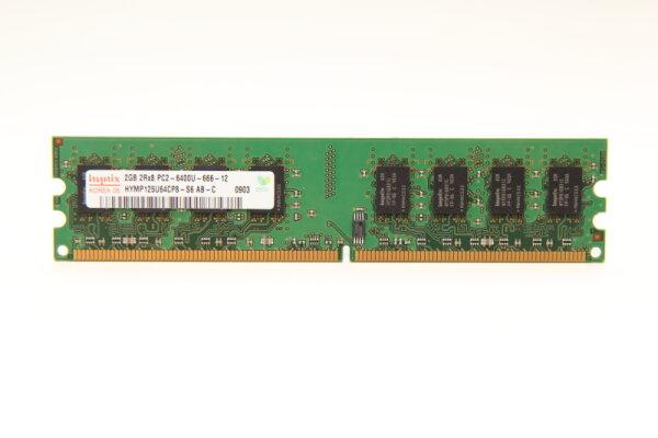 Hynix 2GB DDR2 800MHz PC2-6400U-666-12 PC Speicher RAM HYMP125U64CP8-S6 AB-C