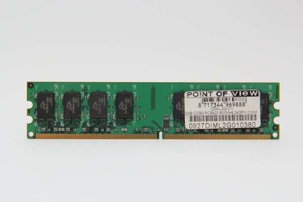 Point of View 2GB DDR2 800MHz PC2-6400 PC Speicher RAM DIM-L2G-01