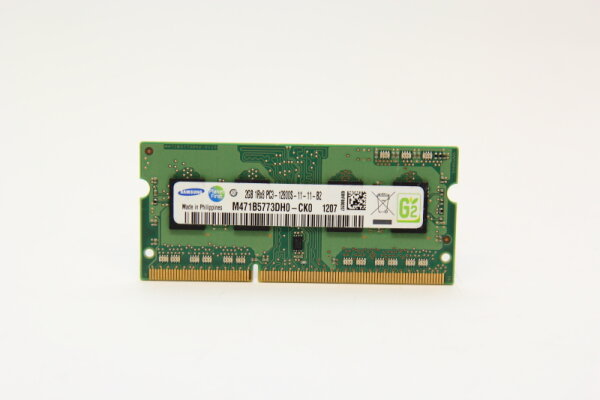 Samsung 2GB DDR3 1600MHz PC3-12800S-11-11-B2 Notebook Speicher RAM M471B5773DH0-CK0