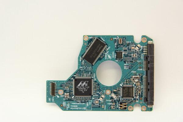 Toshiba HDD PCB Festplattenelektronik G002872A Main IC: 88i9119-TLA2 Motor IC: L7288 1.0