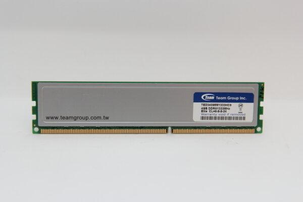 Team 4GB DDR3 1333MHz PC3-10600 PC Speicher RAM TED34096M1333HC9