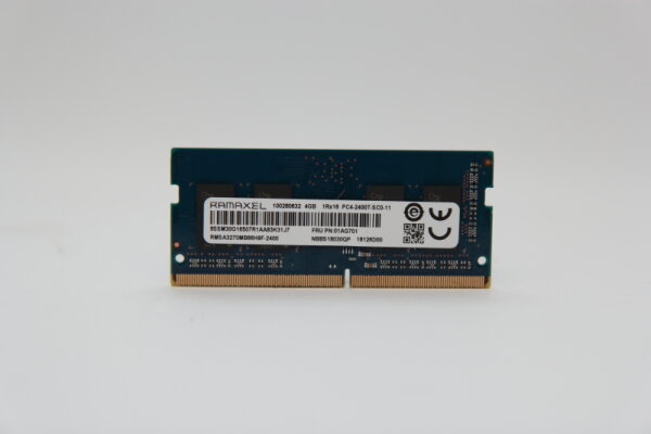 Ramaxel 4GB DDR4 2400MHz PC4-2400T-SC0-11 Notebook Speicher RAM RMSA3270MB86H9F-2400