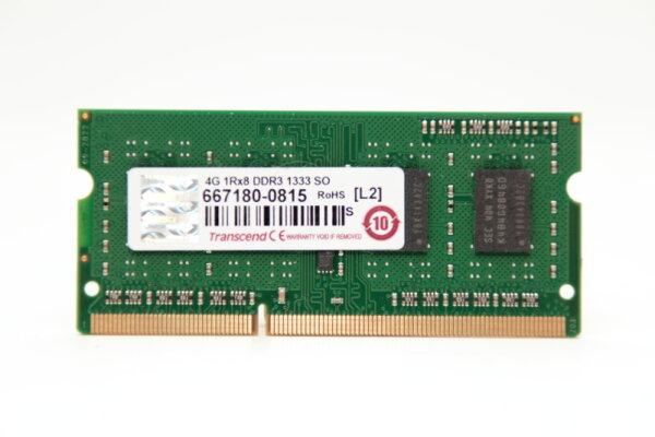 Transcend 4GB DDR3 1333MHz PC3-10600S Notebook Speicher RAM JM1333KSH-4G