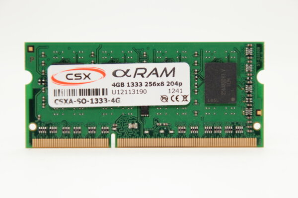 CSX 4GB DDR3 1333MHz PC3-10600 Notebook Speicher RAM CSXA-SO-1333-4G