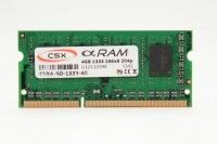 CSX 4GB DDR3 1333MHz PC3-10600 Notebook Speicher RAM...