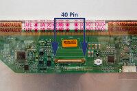 "AUOptronics 43,9cm (17,3"") LED Display glänzend 40 Pin LVDS 1600 x 900 HD+ B173RW01 V.0"