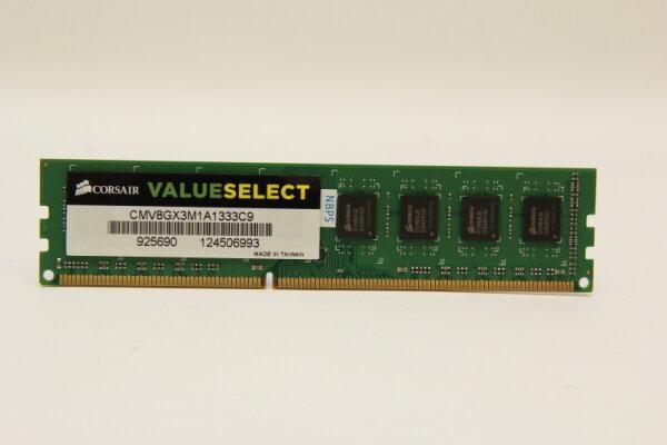 Corsair 8GB DDR3 1333MHz PC3-10600 PC Speicher RAM CMV8GX3M1A1333C9