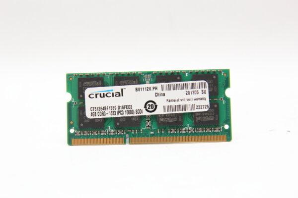 Crucial 4GB DDR3 1600MHz PC3L-10600 1,35V Notebook Speicher RAM CT51264BF1339.D16FED2