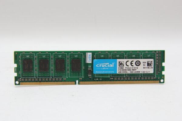 Crucial 4GB DDR3 1600MHz PC3-12800 1,35 Volt PC Speicher RAM CT51264BD160BJ.M8FP