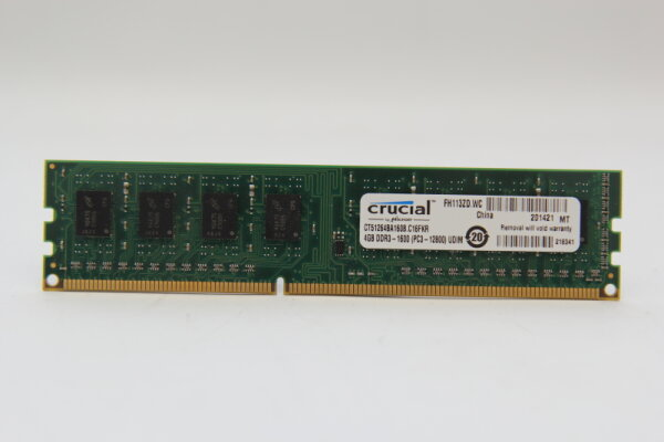 Crucial 4GB DDR3 1600MHz PC3-12800 PC Speicher RAM CT51264BD160B.C16FKR