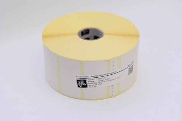 Thermal Transfer Paper Zipship Labels 50.8 x 25.4 mm  3007201-T