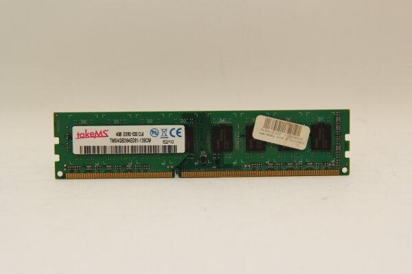 TakeMS 4GB DDR3 1333MHz PC3-10600 PC Speicher RAM TMS4GB364E081-139CM