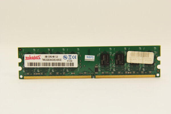 TakeMS 2GB DDR2 800MHz PC2-6400 PC Speicher RAM TMS2GB264D082-805CE