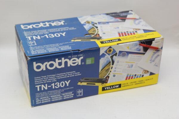 Brother Original TN-130Y Yellow für HL-4040CN, 4050CDN, 4070CDW, MFG-9440CN, 9450CDN, 9840CDW, DCP-9040CN, 9042CDN, 9045CDN