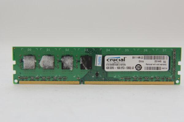 Crucial 4GB DDR3 1600MHz PC3-12800 PC Speicher RAM CT5126BA160B.C16EFR2